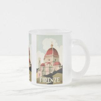 Tasse Givré Duomo vintage d'église de Florence Firenze Italie