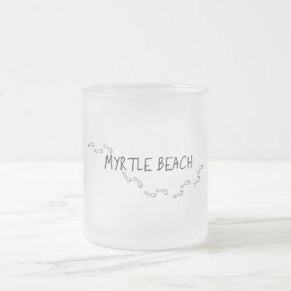 Tasse Givré Empreintes de pas de Myrtle Beach