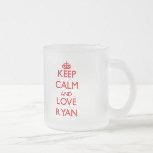 Et Ryan Tasse Aimez Gardez Le Calme Givré 0X8nOwPk