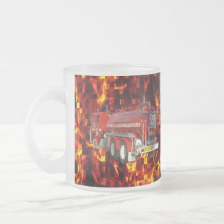 Tasse Givré Graphique de polygone de camion de pompiers sur la