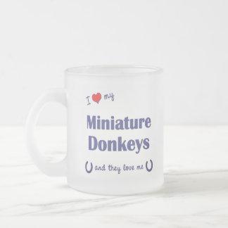 Tasse Givré J'aime mes ânes miniatures (les ânes multiples)