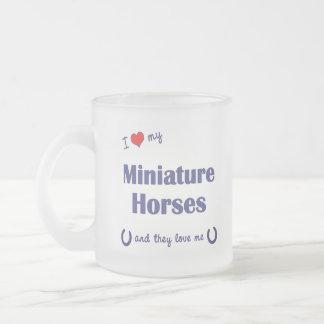 Tasse Givré J'aime mes chevaux miniatures (les chevaux