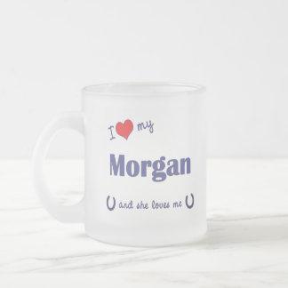 Tasse Givré J'aime mon Morgan (le cheval femelle)