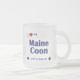 Tasse Givré J'aime mon ragondin du Maine (le chat masculin)