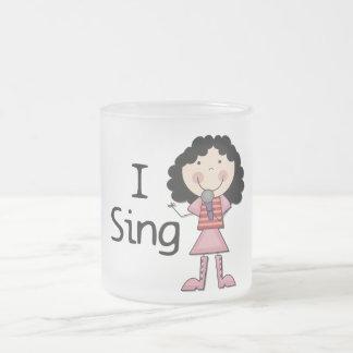 Tasse Givré Je chante les T-shirts et les cadeaux femelles