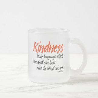 Tasse Givré La gentillesse est la langue que le sourd peut