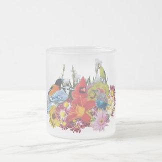 Tasse Givré mélange 4 d'oiseau/fleur