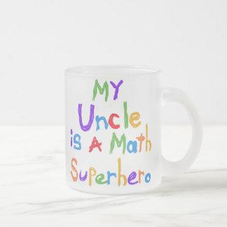 Tasse Givré Mon oncle Math Superhero T-shirts et cadeaux
