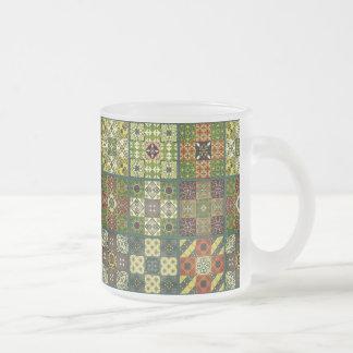 Tasse Givré Ornement vintage de talavera de mosaïque
