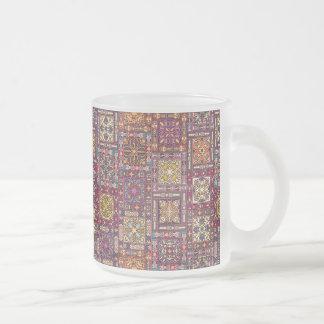 Tasse Givré Patchwork vintage avec les éléments floraux de