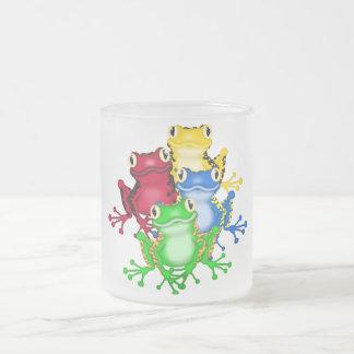 Tasse Givré Quatre T-shirts et cadeaux de grenouilles