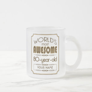 80th cadeaux d/'anniversaire pour tous pris 80 ans génial Funny Party Tasse Thé//Café