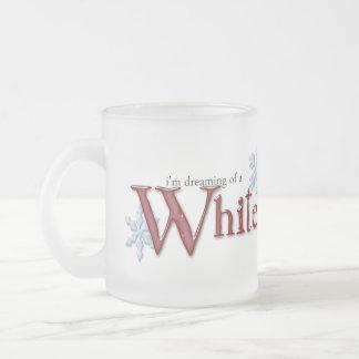Tasse Givré Rêver de Noël blanc
