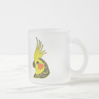 Tasse Givré Tatouage tribal de perroquet de Cockatiel