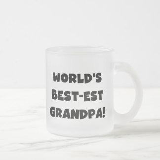 Tasse Givré Texte noir ou blanc de grand-papa du Meilleur-est