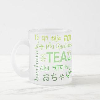 Tasse Givré Thé dans chaque langue en vert