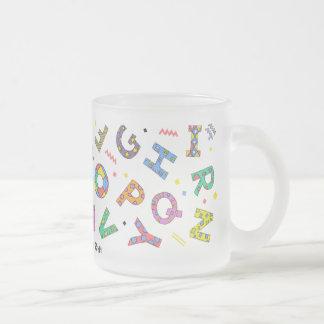 Tasse Givré Verre espiègle d'alphabet