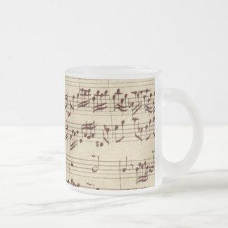 Tasse Givré Vieilles notes de musique - feuille de musique de
