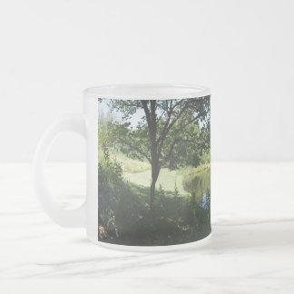 Tasse Givré Vue d'étang