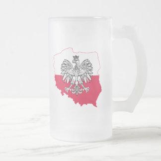 Tasse givrée par drapeau polonais de carte