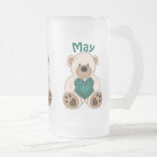 Tasse givrée par ours de pierre porte-bonheur de