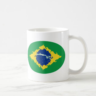 Tasse Gnarly de drapeau du Brésil