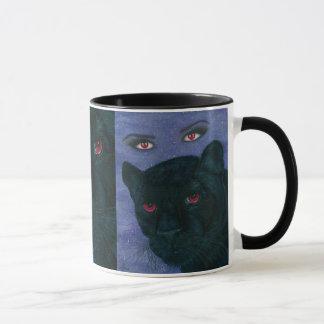 Tasse gothique d'art de vampire de panthère noire