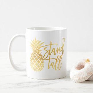 Tasse grande de support d'ananas d'or