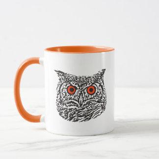 Tasse graphique Orange-Eyed de hibou