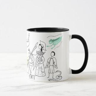 Tasse grecque de logo de Comix de mythe