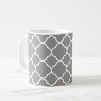 Tasse grise et blanche chic de thé de café de