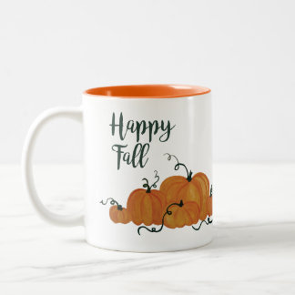 Tasse heureuse d'automne