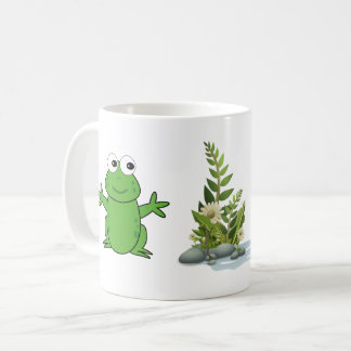 tasse heureuse de grenouille