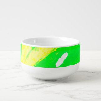 Tasse heureuse de soupe à sentiment bol à potage