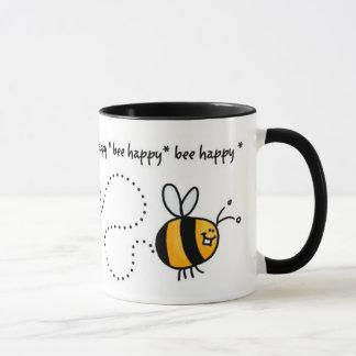 tasse heureuse de traînée d'abeille
