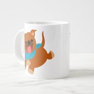 Tasse heureuse mignonne d'éléphant de Staffie de b Mug Jumbo