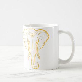 Tasse illustrée d'éléphant