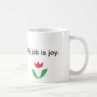 Tasse inspirée - joie avec la fleur