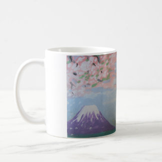 """Tasse japonaise de mont Fuji d'art """"ressort"""" par"""
