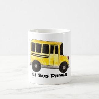 Tasse jaune de cadeau de professeur de chauffeur