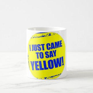 Tasse jaune d'équipe