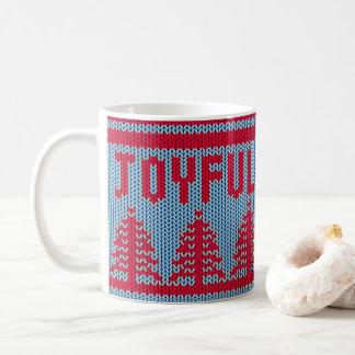 Tasse joyeuse du chandail mignon | de Noël
