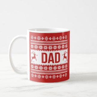 Tasse laide de Noël de cadeau de papa