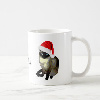 Tasse laide de Noël de chat siamois de Mme Claws