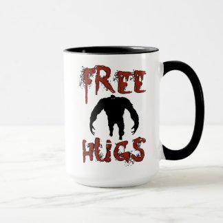 Tasse libre mignonne drôle de monstre d'étreintes