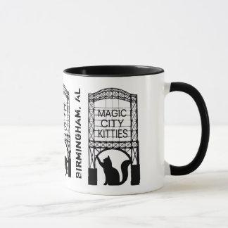 Tasse magique de sonnerie de minous de ville