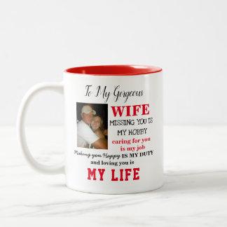 Tasse magnifique d'épouse