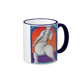 Tasse manipulée bleue de sonnerie de Yogaphant 4