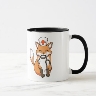 Tasse médicale de docteur Fox Drawing Cute Ringer