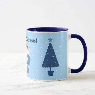 Tasse mignonne d'arbres de méduses et de Noël de